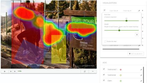 Beispiel Ansicht mit AOIs auf Eye-Tracking-Auswertung